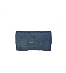 Bolso de mano de piel GL-12384 azul -25x14x4cm-