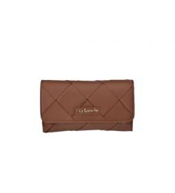 Bolso de mano de piel GL-12384 cuero -25x14x4cm-