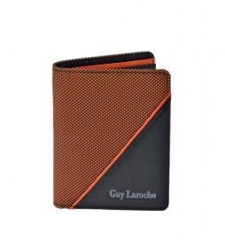 Cartera de piel GL-3722 naranja -8,5x10,5x1,5cm-