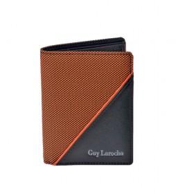 Cartera de piel GL-3720 naranja -8,5x11x1cm-