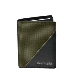 Cartera de piel GL-3720 verde -8,5x11x1cm-