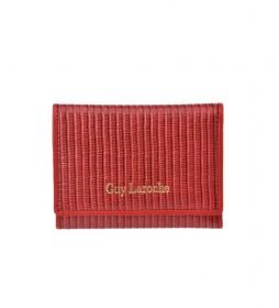 Monedero de piel GL-7481 rojo -11.5x8.5x1cm-