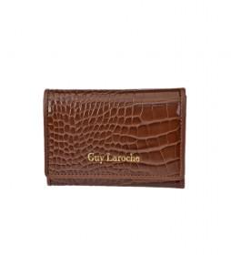 Monedero de piel GL-7501 cuero -11x8.5x1cm-