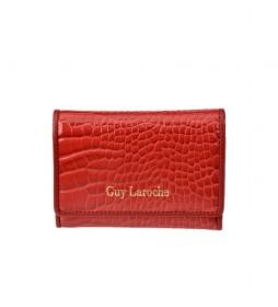 Monedero de piel GL-7501 rojo -11x8.5x1cm-