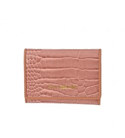 Monedero de piel GL-7501 rosa -11x8.5x1cm-