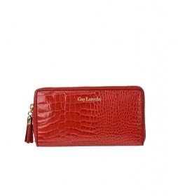 Monedero de piel GL-7490 rojo -20x10x2cm-