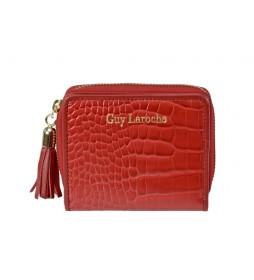 Monedero de piel GL-7494 rojo -10x8.5x2.5cm-