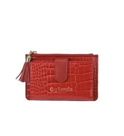 Monedero de piel GL-7506 rojo -14x9x1.5cm-