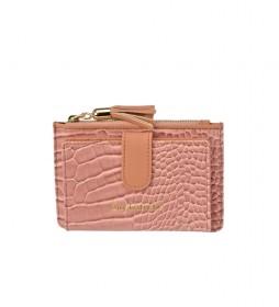 Monedero de piel GL-7506 rosa -14x9x1.5cm-