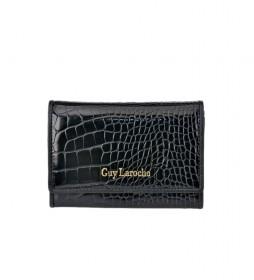Monedero de piel GL-7495 negro -13x9x2cm-