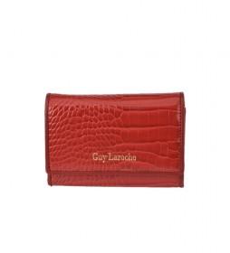 Monedero de piel GL-7495 rojo -13x9x2cm-