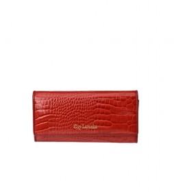 Monedero de piel GL-7491 rojo -19x10x2.5cm-