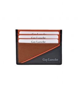 Tarjetero plano de piel GL-3726 naranja -9.5x7.5xcm-