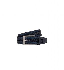 Cinturón de piel Trenzado azul
