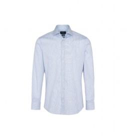 Camisa Twill Two Col Str azul