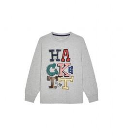 Camiseta Letters gris