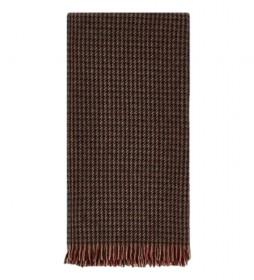 Bufanda Charley Check marrón