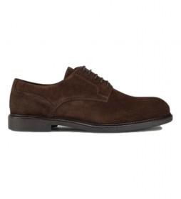 Zapatos de piel Chino Double Welt marrón