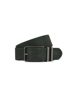 Cinturón de piel en Espiga verde