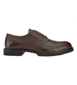 Zapatos de piel Commando Brogue marrón