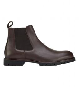 Botas de piel Commando Chelsea marrón