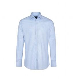 Camisa Dobby Houndstooth azul claro
