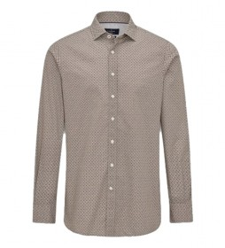 Camisa Foulard Print marrón