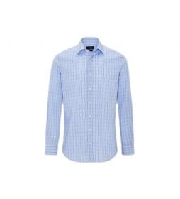 Camisa Gingham Overcheck azul