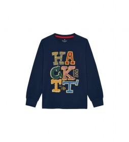 Camiseta Letters marino