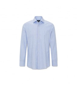 Camisa Jaspe Glen Check azul