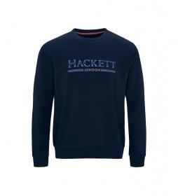 Sudadera Mix Dot Hackett Crew marino