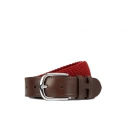 Cinturón de piel Trenzado rojo