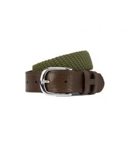 Cinturón de piel Parachute marrón, verde