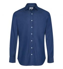 Camisa Peached denim azul
