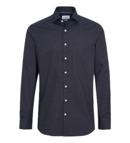 Camisa SR Foulard Print marino
