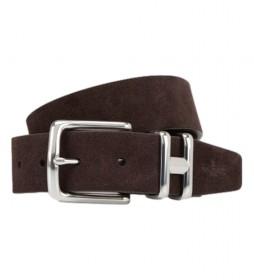 Cinturón de piel Suede H Keeper Tom marrón