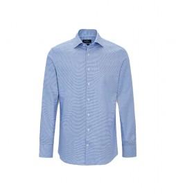Camisa Twill Houndstooth azul