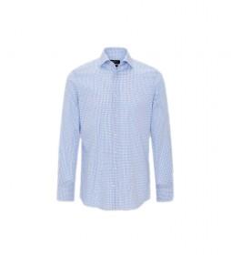 Camisa Two Tone Grid Check azul