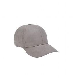 Gorra beisbolera gris