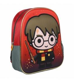 Mochila Infantil 3d Harry Potter -25x31x10cm-