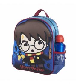 Mochila Infantil 3d Harry Potter azul -25x31x10cm-