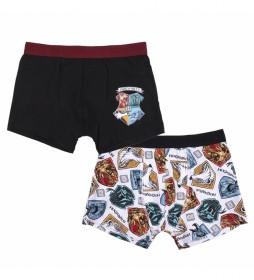 Pack de 2 Boxer Harry Potter negro, multicolor