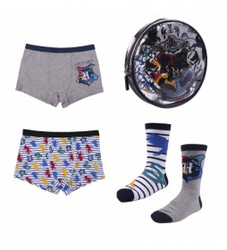 Pack 2 Boxer 2 Calcetines Harry Potter multicolor