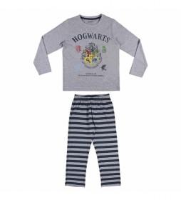 Pijama  Harry Potter gris