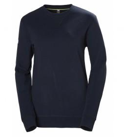 Helly Hansen T-shirt azul marinho da tripulação