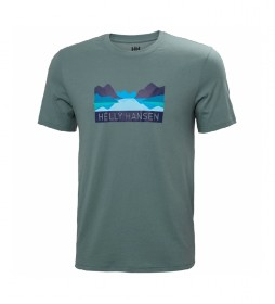 Camiseta Nord Graphic turquesa