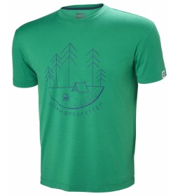 Helly Hansen Skog Graphic green t-shirt / UPF 30