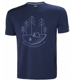 Helly Hansen Skog Graphic marine t-shirt / UPF 30