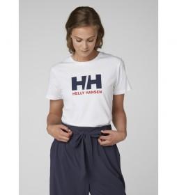 Helly Hansen Camiseta W HH Logo blanco, marino