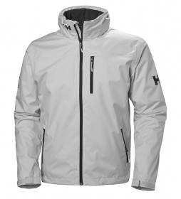 Helly Hansen Chaqueta Crew Hooded Midlayer gris / Helly Tech® Protection /